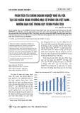 Phân tích tài chính doanh nghiệp nhỏ và vừa tại các ngân hàng thương mại cổ phần của Việt Nam - những hạn chế trong quy trình phân tích