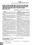 Đánh giá tình trạng bệnh viêm nha chu mạn tính trong lần khám đầu tiên tại khoa Nha Chu-Bệnh viện Răng Hàm Mặt thành phố Hồ Chí Minh năm 2016-2017