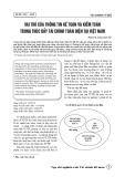 Vai trò của thông tin kế toán và kiểm toán trong thúc đẩy tài chính toàn diện tại Việt Nam