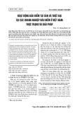 Hoạt động bảo hiểm tài sản và thiệt hại tại các doanh nghiệp bảo hiểm ở Việt Nam: Thực trạng và giải pháp