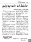 Nhu cầu khám chữa bệnh và một số yếu tố liên quan của người cao tuổi tại huyện Vĩnh Linh, tỉnh Quảng Trị