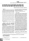Chi phí điều trị của người bệnh sỏi đường mật tại khoa gan mật Bệnh viện Việt Đức năm 2016