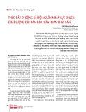 Thúc đẩy di động xã hội nguồn nhân lực KH&CN chất lượng cao đảm bảo tuần hoàn chất xám