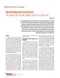 Hiệp định thương mại tự do thế hệ mới: Tác động đối với hệ thống sở hữu trí tuệ của Việt Nam