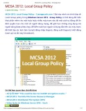 MCSA 2012: Local group policy