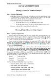 Bài tập thực hành Microsoft Word