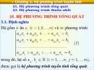 Bài giảng Toán cao cấp A1 – Chương 2: Hệ phương trình tuyến tính