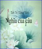 Bài giảng Ngữ văn 11 - Tiếng Việt: Nghĩa của câu