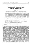 Kết cấu truyện ngắn của Tô Hoài dưới góc nhìn tự sự học