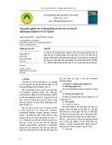 Góp phần nghiên cứu về thành phần hóa học của cây Sưa đỏ (Dalbergia tonkinesis) ở Tây Nguyên