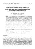 Nghiên cứu đề xuất tiêu chí lựa chọn dữ liệu truyện thần thoại phục vụ xây dựng kho dữ liệu văn học thiếu nhi bằng tiếng Anh