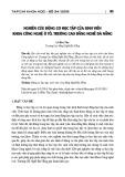 Nghiên cứu động cơ học tập của sinh viên khoa Công nghệ ô tô, trường Cao đẳng nghề Đà Nẵng
