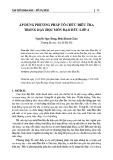 Áp dụng phương pháp tổ chức điều tra trong dạy học môn Đạo đức lớp 4