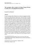The contagious effects analysis of Chinese equity market to south Asia's emerging financial markets