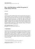 Heavy-tailed distributions and risk management of equity market tail events
