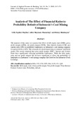 Analysis of the effect of financial ratios to probability default of Indonesia's coal mining company