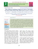 Effect of different establishment methods and varieties on yield, quality and nutrient uptake of Kharif finger millet (Eleusine coracana (L.) Gaertn.)