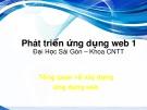 Bài giảng Phát triển ứng dụng web 1: Tổng quan về xây dựng ứng dụng web - ĐH Sài Gòn