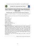 Nghiên cứu ảnh hưởng của quá trình kết tinh lưu huỳnh trong cấu trúc bê tông Asphalt đến các chỉ tiêu Marshall