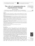 The role of communication in organisational change
