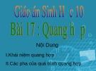 Bài giảng Sinh học 10 - Bài 17: Quang hợp - Nguyễn Minh Quý