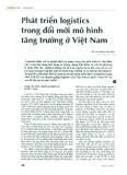 Phát triển Logistics trong đổi mới mô hình tăng trưởng ở Việt Nam