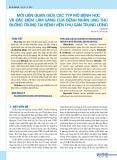 Mối liên quan giữa các týp mô bệnh học và đặc điểm lâm sàng của bệnh nhân ung thư buồng trứng tại Bệnh viện Phụ sản Trung ương