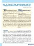 Điều trị u xơ tử cung bằng phương pháp đốt điện gây tắc động mạch tử cung qua nội soi