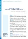 Hiệu quả của atosiban trong trì hoãn chuyển dạ sinh non