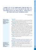 Nghiên cứu tỷ lệ nhiễm HPV ở bệnh nhân có tổn thương cổ tử cung tại Bệnh viện Phụ sản Hải Phòng bằng kỹ thuật Real-time PCR và reverse dot blot hybridization
