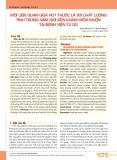 Mối liên quan giữa hút thuốc lá với chất lượng tinh trùng nam giới đến khám hiếm muộn tại Bệnh viện Từ Dũ