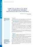 Nghiên cứu giá trị của các chỉ số siêu âm doppler màu tinh hoàn nhằm đánh giá chất lượng tinh trùng