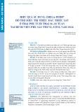 Hiệu quả sử dụng Chela-Ferr® hỗ trợ điều trị thiếu máu thiếu sắt ở thai phụ tuổi thai 26-28 tuần tại Bệnh viện Phụ sản Trung ương năm 2016