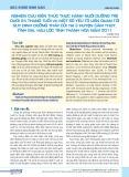 Nghiên cứu kiến thức thực hành nuôi dưỡng trẻ dưới 24 tháng tuổi và một số yếu tố liên quan tới suy dinh dưỡng thấp còi tại 3 huyện Cẩm Thủy, Tĩnh Gia, Hậu Lộc tỉnh Thanh Hóa năm 2011