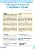 Nghiên cứu vô sinh do tắc vòi tử cung và tìm hiểu một số yếu tố ảnh hưởng tại Bệnh viện Phụ sản Trung ương