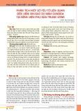 Phân tích một số yếu tố liên quan đến viêm âm đạo do nấm Candida tại Bệnh viện Phụ sản Trung ương