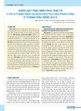 Khảo sát tình hình phá thai to ở trẻ vị thành niên tại Bệnh viện Phụ sản Trung ương 6 tháng đầu năm 2012