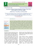 Assessment of physico-chemical properties of tannery waste water and its impact on fresh water quality
