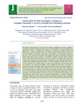 Genetic basis of yield and quality variations in vegetable Amaranth (A. tricolor) to identify the promising genotypes