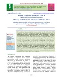 Stability analysis for quantitative traits in sugarcane (Saccharum officinarum)