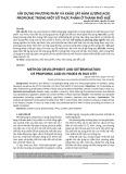 Xây dựng phương pháp và khảo sát hàm lượng acid propionic trong một số thực phẩm ở thành phố Huế
