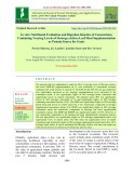In vitro nutritional evaluation and digestion kinetics of concentrates containing varying levels of Moringa oleifera leaf meal supplementation as protein source for goats