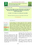 Response of pearl millet to weather health indices under different spacings and sowing windows in coastal agro- ecosystem of Andhra Pradesh, India