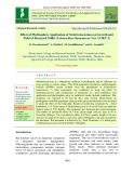 Effect of phyllosphere application of Methylobacterium on growth and yield of Barnyard millet (Echinochloa frumentacea Var. COKV 2)