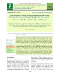 Study the effect of organic nutrient management on soil physical properties, economics and energy budgeting in rice (Oryza sativa L.)