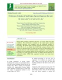 Performance evaluation of small engine operated sugarcane harvester