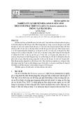 Nghiên cứu sự chuyển hóa sinh lí, hóa sinh theo tuổi phát triển của quả na (Annona squamosa L.) trồng tại Thanh Hóa