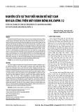 Nghiên cứu sự thay đổi nhám bề mặt cam khi gia công trên máy đánh bóng BK.CMPM.12