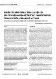 Nghiên cứu đánh giá đặc tính làm việc của dầu cách điện nguồn gốc thực vật Environtemp FR3 trong máy biến áp phân phối Việt Nam