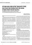 Xác định hàm lượng Nitrat trong một số mẫu rau củ quả theo phương pháp trắc quang sử dụng thuốc thử Axit Salisylic
